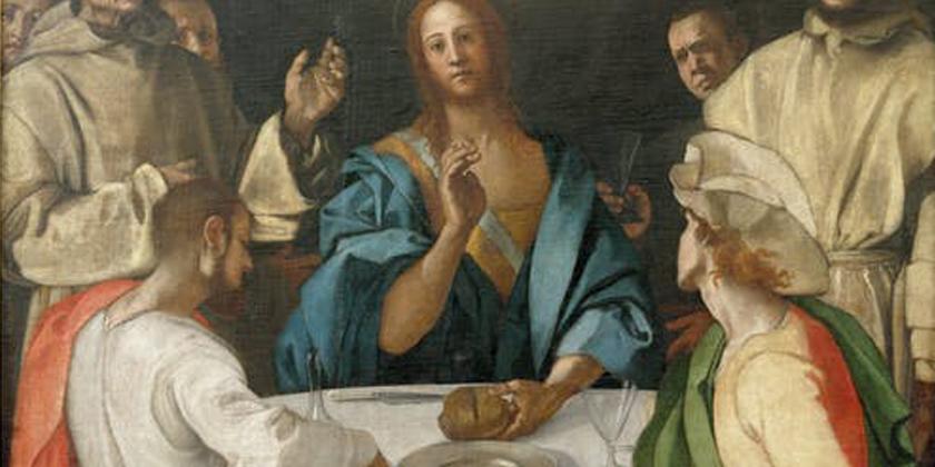 I due di Emmaus e Gesù in mezzo a loro