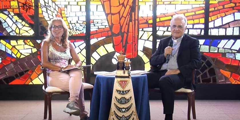 """María Visión: un dialogo in diretta tv su """"Giuseppe e Maria"""""""