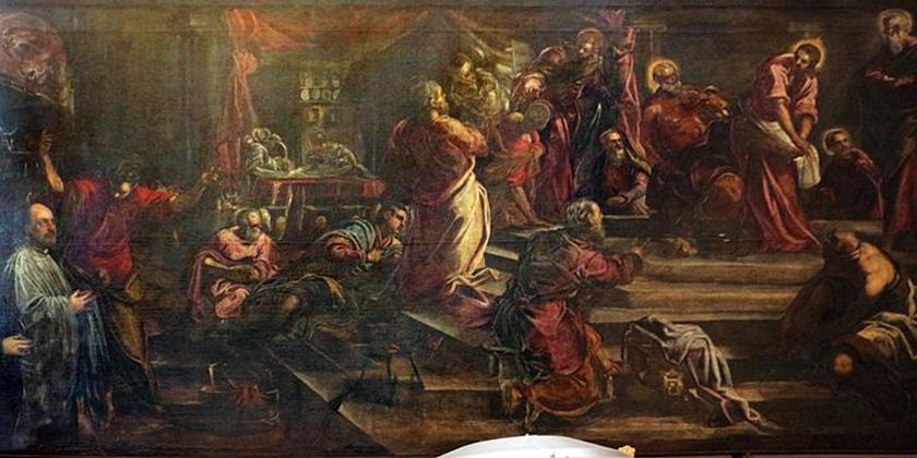 Gesù ci lava i piedi lungo la storia